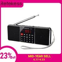 RETEKESS TR602 Bluetooth радиоприемник портативный радио FM AM с MP3-плеером беспроводной Дополнительный вход громкоговорителя Поддержка TF карты таймер ...