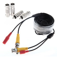 10m/33ft CCTV Digital camera DVR Video DC Energy Cable Safety Surveillance BNC RCA Port Cable Wire Accent