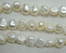 Wholesale Loose Pearl Jewellery,AAA 8-9MM Top Quality Baroque Beads White Color Natural Freshwater Pearl Jewellery 16 inches 30 40mm aaa natural lavender fireball baroque pearl loose strand