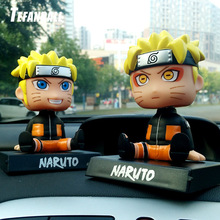 Car Ornaments Anime Naruto Bobble Head Car Decoration Whirlpool Naruto Automotive  Dashboard Decoration Gift Toys