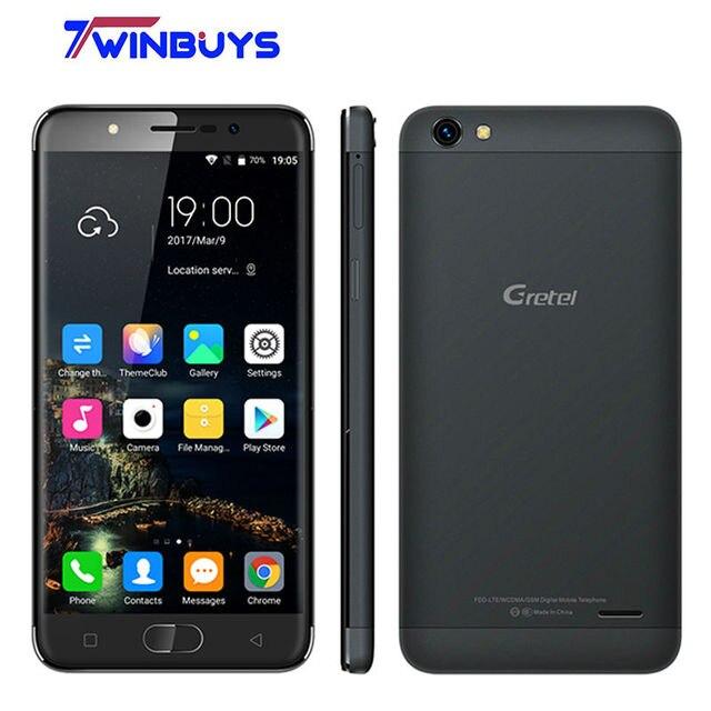 "Gretel A9 4G Fingerprint OTG Smartphone MTK6737 64-bit Quad Core 5.0"" HD Android 6.0 Cellphone 2GB+16GB 8MP 2300mAh Mobile Phone"