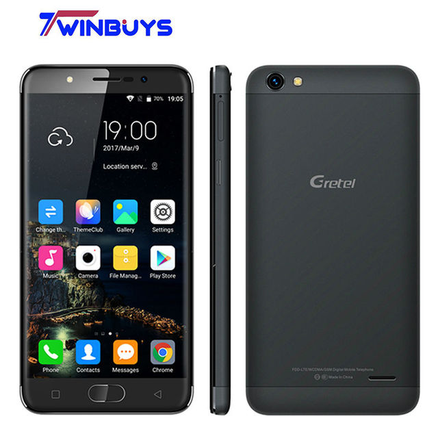 "Gretel A9 Smartphone 4G 5.0"" Android 6.0 MTK6737 Quad Core 2GB+16GB 13MP Fingerprint 2300mah Full metal Mobile phone"