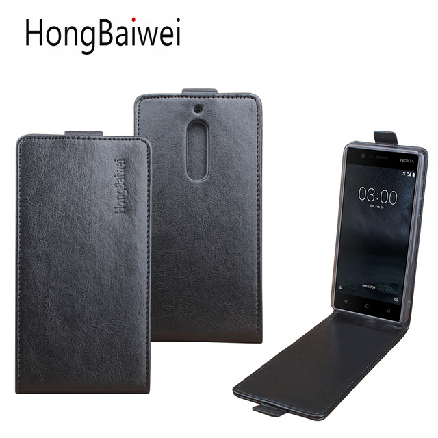 Leather case For Nokia 5 TA1024 TA1027 TA1044 TA1053 Flip cover For Nokia5 <font><b>TA</b></font> 1024 / <font><b>TA</b></font> 1027 / <font><b>TA</b></font> 1044 / <font><b>TA</b></font> <font><b>1053</b></font> Phone cases image