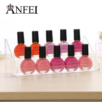 Fashion 2 Layers Transparent Detachable Nail Polish Rack Lipstick Display Shelf Box Cosmetic Stand Jewelry Holder