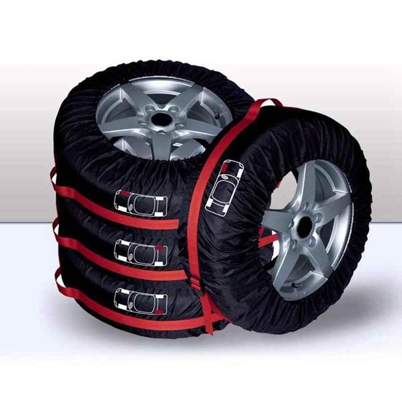 Cubierta de neumático de repuesto, funda de neumático de garaje de poliéster para coche con correa de mano, bolsa de almacenamiento de neumáticos de invierno de verano accesorios de neumáticos de coche Wh