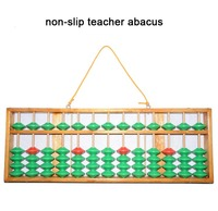 high quality 13 column wood non slip Abacus Chinese soroban Tool In Mathematics Education for teacher XMF023 green