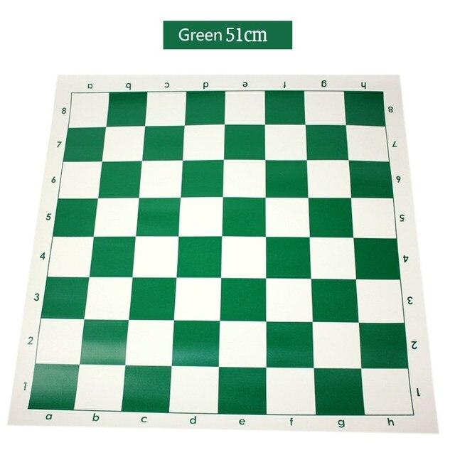 Vert 51cm vinyle tournoi échiquier pour les jeux éducatifs pour enfants tableau magnétique pour les échecs 1