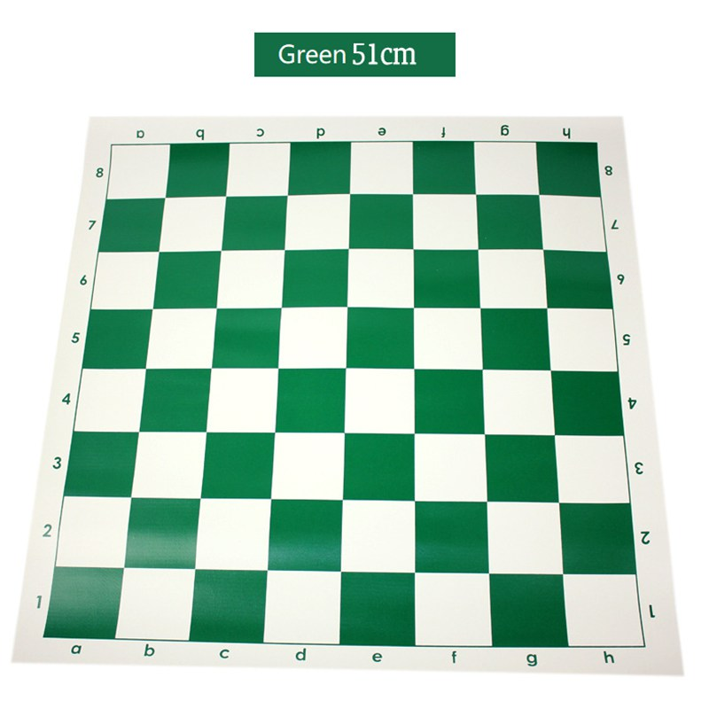Green 51cm Vinyl Tournament Chess Board For Children's Educational Games Magnetic Board For Chess