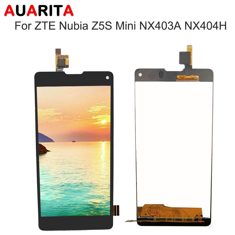 AAA calidad pantalla lcd para ZTE Nubia Z5S Mini NX403A NX404H pantalla LCD digitizer pantalla táctil Asamblea completa para ZTE z5S mini