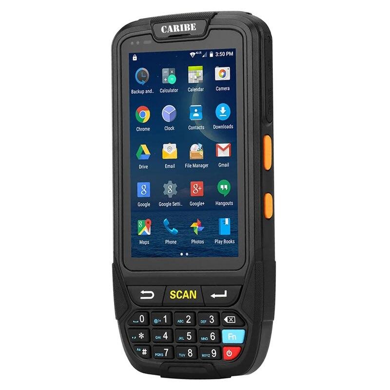 CARIBE 1D 2D Barcode Scanner PDA Terminal Portátil Mais Recente Projeto Suporte 4G Comunicação Android 7.0