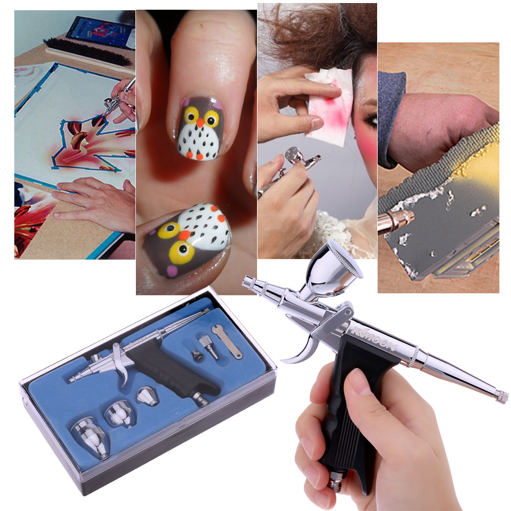 Airbrush Set for Paint Tattoo Manicure Spray Model Air Brush Nail Tool+ Cleaning Pot + Air Brush Cleaning Repair Tool Kit nail clipper cuticle nipper cutter stainless steel pedicure manicure scissor nail tool for trim dead skin cuticle