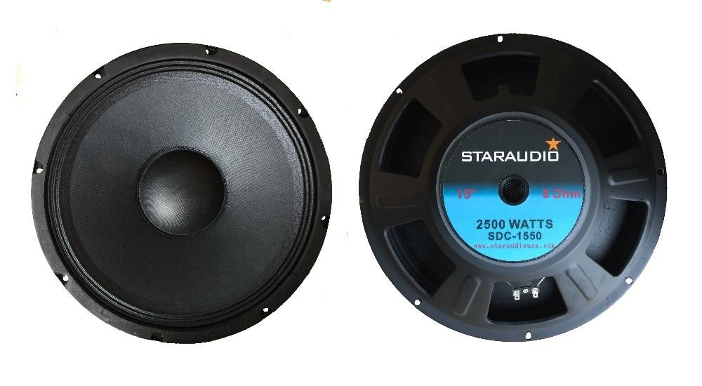 STARAUDIO 1Pc 2500W 15 Raw DJ PA Speaker Replacement 8 Ohm Magnet Sub Woofer Bass SDC-1550
