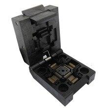 Clamshell QFP32 TQFP32 LQFP32 Pin Passo 0.8mm Queimar em IC51 0324 1498 Soquete IC Teste Programador Soquete Adaptador De Conversão de Bloco