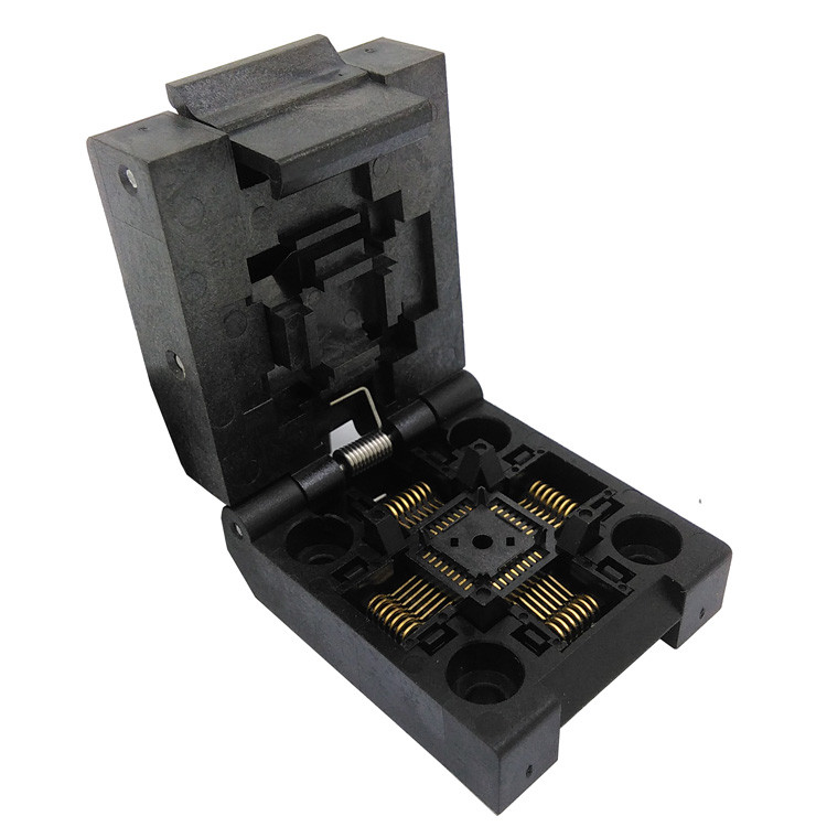 QFP32 TQFP32 LQFP32 Clamshell Pin Pitch 0.8mm Burn In Socket IC51-0324-1498 IC Test Socket Programmer Adapter Conversion Block