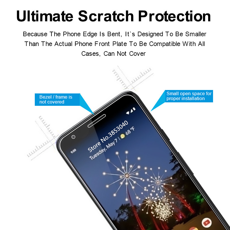 Premium Tempered Glass For Google Pixel Pixel 3A XL 2 3 Lite 1 Pixel2 Pixel3 Pixel3Lite HTC Screen Protector Protective Film in Phone Screen Protectors from Cellphones Telecommunications