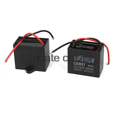 motor capacitor wiring promotion shop for promotional motor ac 450v 20uf cbb61 polypropylene film wired fan motor run capacitor 2 pcs