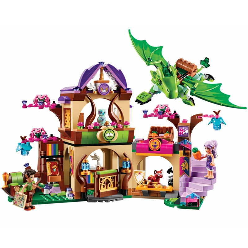 Bela 694Pcs 10504 Friend Elves The Secret Market Place Model Building Kit Blocks Girl Toys For Children 41176 college 1938 694