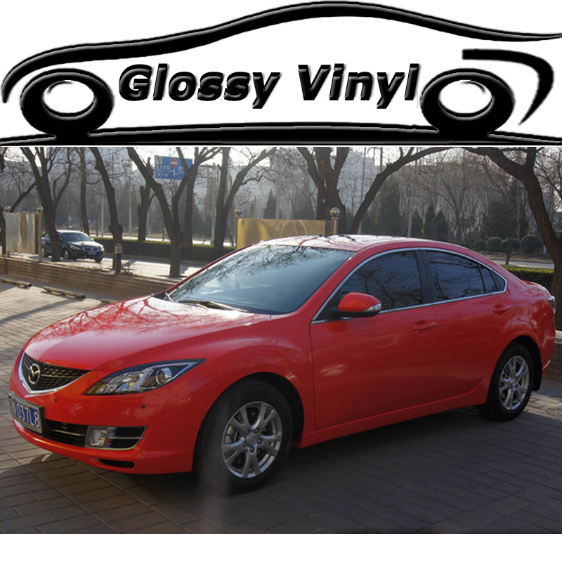 Hot Sale Red Glossy Vinyl Wrap Self adhesive With Air Drains Gloss Auto Car Body Wrapping