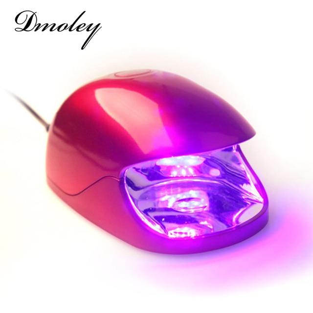 2EN1 Cargador de 3 W Mini LED Lámpara ULTRAVIOLETA Secador de Uñas + ...