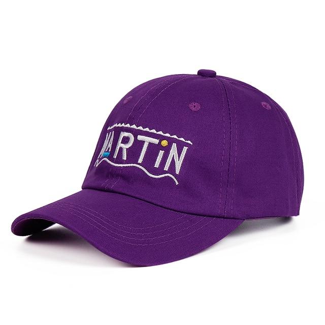 190054651ce 100% Cotton 2018 Newest Purple Martin Show Dad Hat Washed Talk Show Variety  Cap Men