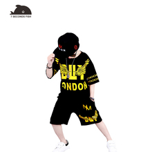 hot deal buy kids clothes toddler boys clothing summer 2018 boys sets t shirt + pant 2 pieces boys tracksuit new fashion 6 8 10 12 years