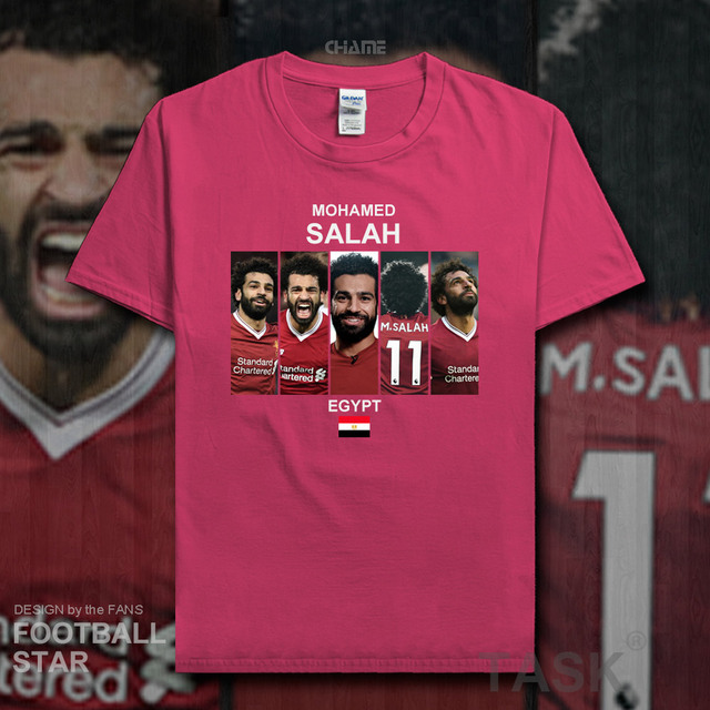 Mohamed Salah t shirt men 2018 jerseys Egypt Liverpool footballer star  tshirt cotton fitness t-shirt clothes casual summer 20 38e938e12