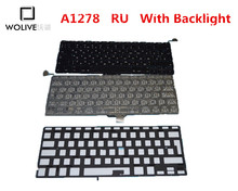 Genuine New RU Keyboard A1278 For Macbook Pro 13″ 2009-2012 Year With Backlight language version RU Replacement