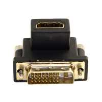 90 Degree Down Angled DVI Male to HDMI Female Adapter for Computer & HDTV & Graphics Card