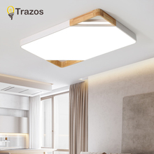 TRAZOS Wood LED Ceiling Lights With Metal Lampshade For Corridor Adjustable Indoor Ceiling Lamp Modern Kitchen Lighting Fixtures trazos adjustable ceiling lights corridor lamp metal led ceiling mount bulbs light e27 coffee bar lamps home lighting fixtures