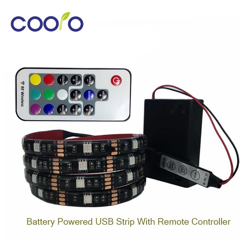 led streifen licht 5050 rgb batteriebetriebene tv hintergrund beleuchtung. Black Bedroom Furniture Sets. Home Design Ideas