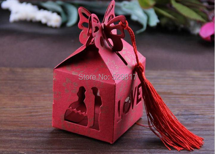 5red Groom Bride Wedding Favor Boxes gift box candy - Yiwu Ete favor store