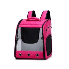 Breathable Double Zipper Pet Supplies Net Yarn Out Bag Porous Anti-fall Backpack