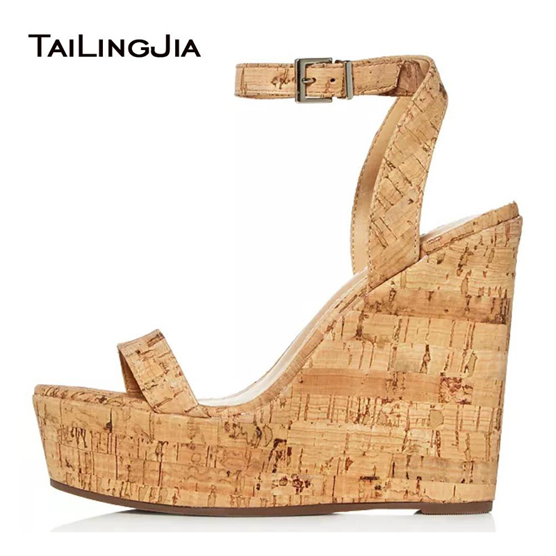 Cork Wedge Sandals Shoes Woman 2019 Platform Wedges Shoes For Women Summer Ladies Stripper