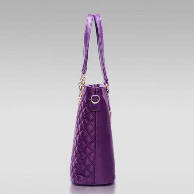 Fashion Diamond Lattice Women Brands Oxford Women Shoulder Bags Ladies Tote Handbag+Crossbody Bag+Wallet+Purse 6 Sets S-162