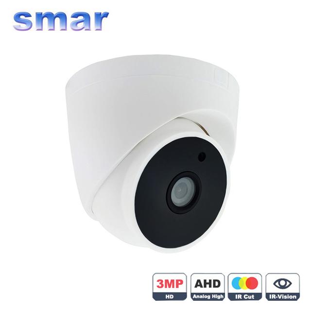 Novo Produto Super HD 3MP AHD Câmera 4MP 3 * Matriz Infravermelho AHDH Indoor Dome Câmera de Vigilância de Vídeo CCTV Casa segurança