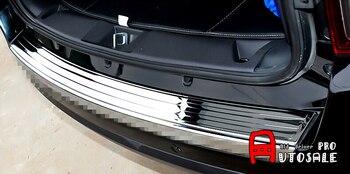 Untuk Jeep Patriot 2011 2012 2013 2014 2015 Glossy Stainless Luar Rear Bumper Protector Penutup Plat