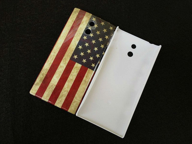 1pcs Retro USA Flag Hard Back Case Cover For Sony Ericsson Xperia P LT22i, Freeshipping