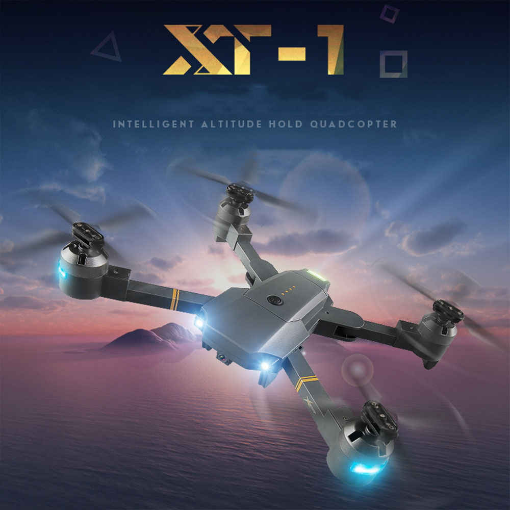 phoota XT-1 Quadcopter 2.4GHz 6 axis gyro 1080P HD camera LED lighting fixed high folding UAV + receiving packet Drone