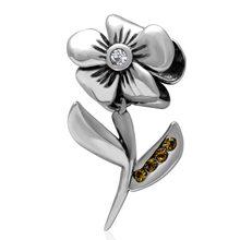 A la moda Flower Beads 100% la plata esterlina 925 encanta encajan Pandora pulseras de la joyería DIY para mujeres