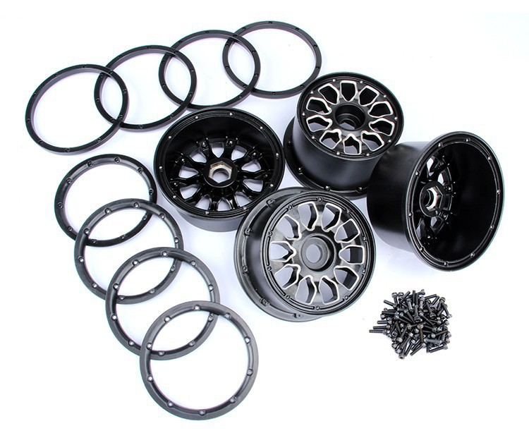 CNC alloy metal wheel hub set fit HPI KM Rovan baja 5B Free shipping