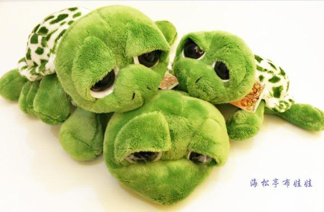 Candice guo plush toy stuffed doll NICI little funny big eye tortoise turtle pillow kid children birthday gift christmas present huge 120 cm turtle plush toy big head tortoise doll throw pillow christmas gift w1903