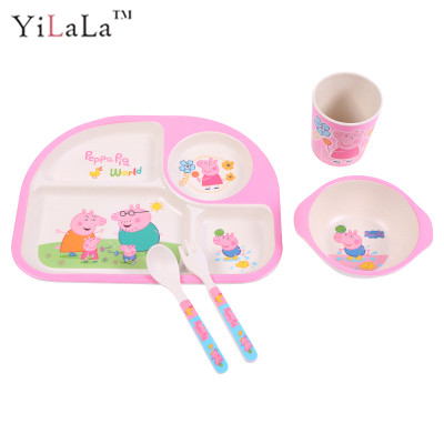 5pcs/set Bamboo Firber cartoon Peppa pig ided plate set for girls and boy-in Dishes \u0026 Plates from Home \u0026 Garden on Aliexpress.com | Alibaba Group  sc 1 st  AliExpress.com & 5pcs/set Bamboo Firber cartoon Peppa pig ided plate set for girls ...