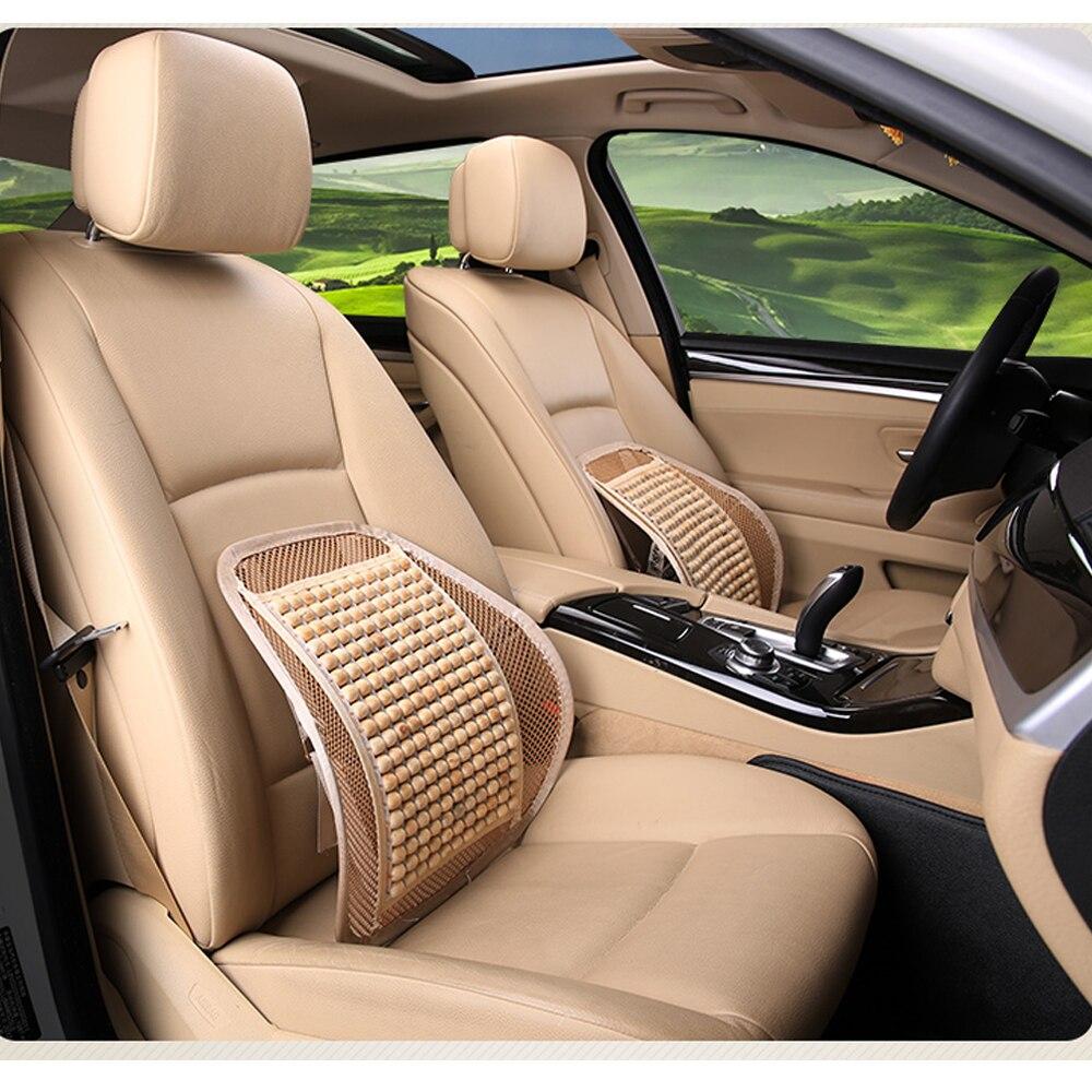 Onwijs Nutural Hout Autostoel rugkussen Auto Rugleuning Ondersteunt Voor KR-59