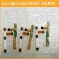 Premium interruptor de encendido botón de Volumen Power Flex cable Para Cubi cubo U65GT TALK 9X conductor flexible con reemplazo de la etiqueta engomada partes