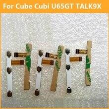 Premium switch on off Power Volume button Flex cable For Cube Cubi U65GT TALK 9X conductive flex with sticker replacement parts