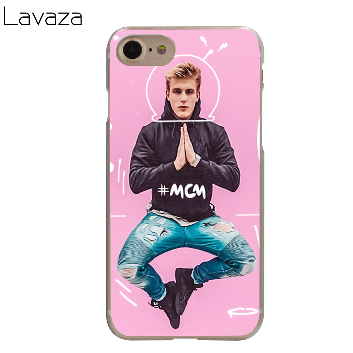 official photos 7ef52 77589 US $2.12 6% OFF|Lavaza Jake Paul Team 10 Case for iPhone XS Max XR X 8 7 6  6S Plus 5 5s se-in Half-wrapped Case from Cellphones & Telecommunications  ...