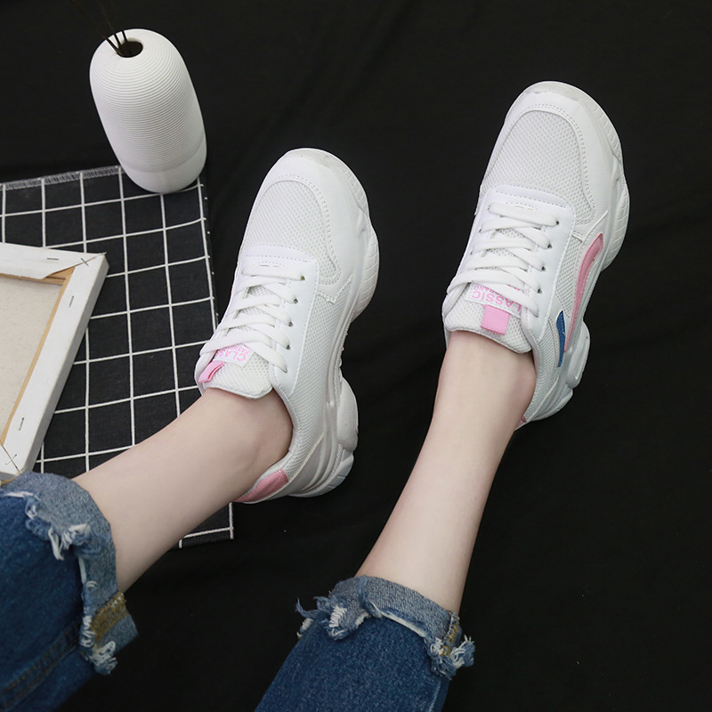 Fashion Women Platform Shoes Lace Up Vulcanize Shoes Womens Female Trainers Dad Shoes