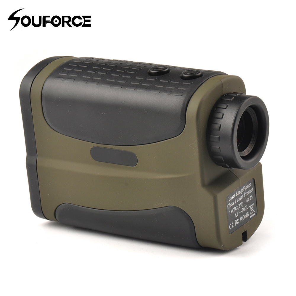 Optics 700m Laser Rangefinder Scope 6x25 Binoculars Hunting Golf Laser Range Finder Outdoor Distance Meter Measure Telescope стоимость