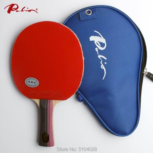 Palio официальный три звезды гладкая ракетка с бугорками как для резиновых быстрая атака с петлей пинг-понг игры ракетка игры