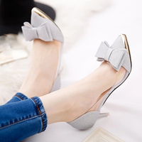 Spring Summer Melissa Shallow Mouth Pointed Thin High Heels Pumps With Bow Jelly Transparent Sandals Silver